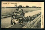 785v Cardinal Ontario 190 7 Canal Steamboat Landing Boating Crowds Of People