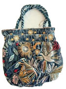 Johnny Was Pouch Bag Selah Velvet Winter Embroidery Small Floral Flower Jasp New