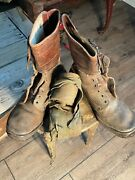 Ww1 Marine Corp Boots Brown Leather And Putties Plus The Ankle Bands Originals