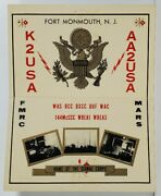 Fort Monmouth N.j Radio K2usa Home Of The Signal Corps To K2snh Postcard N2