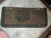 Early Rare Antique Vtg Heavy Leather Automobile Truck License Plate Holder
