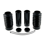 Cultwerk Fork Cover Complete With Gaiters Black For Harley-davidson 48and039 16