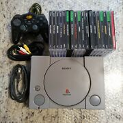 Sony Playstation 1 Ps1 Console Controller Memory Cards Games Works Great