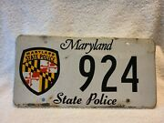 2010 Maryland State Police License Plate