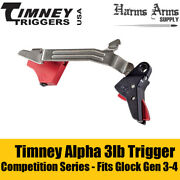 Timney Alpha Series Competition Series 3lb Trigger For Glock Gen 3-4