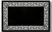 Marble Restaurant Table Top With Inlay Work Elegant Dining Table 36 X 48 Inches