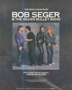 Sfbk7 Poster/advert 13x11 Bob Seger And The Silver Bullet Band