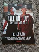 Tpbk3 Advert/poster 11x8 Fall Out Boy Save Rock And Roll