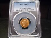 1925-d Ms64 2.50 Indian Quarter Eagle Pcgs Certified - Fantastic Coin/pq