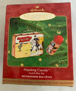 Hopalong Cassidy Metal Lunch Box And Thermos 2 Ornament Set By Hallmark New
