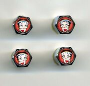 Betty Boop 4 Chrome Plated Brass Tire Valve Caps Car And Bike Featuring Betty Boop