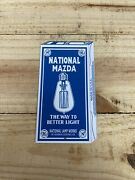 National Mazda General Electric Light Bulb Lamp Tin Country Store Sign Nostalgic