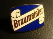 Circa 1950s Braumeister Tap Handle Enameled Face, Milwaukee, Wisconsin