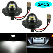 2x Led Bulbs Lamp Assembly Replacement 6000k 8-30v License Plates Lights