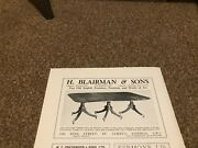 Ant3 Antique Advert 5x8 H Blairman And Sons English Mahogany Dining Table