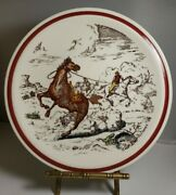 Vernon Kilns Western Bits Of The Old West Plate 8½ Horse Thieves Horse Plate