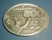 2005 Indianapolis 500 Belt Buckle Accelerate Your Senses - Milk Tradition