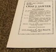 Ant4 Antiques Advert 5x4 Chas J Sawyer Rare And Choice Books