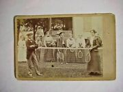 Antique Cabinet Photo Of Women And Men Tennis Players By Bliss Coudersport Pa 1893