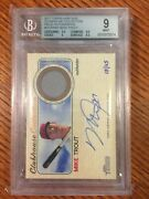 2017 Topps Heritage Mike Trout Ccarmt Clubhouse Collection Auto Relic Bgs 9 Mint