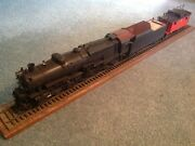 O Scale 2 Rail Brass Ktm 4-8-2 Prr Mountain Locomotive And Max Gray Cabooose