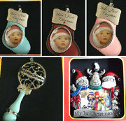 Babys First Christmas Tree Decoration Ornament Xmas Stocking Rattle