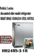 Perlick 24 Inch 3.1 Cu Ft Built-in Counter Depth Refrigerator With 2 Wire Shelf