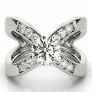 Round 1.10 Ct Natural Diamond Engagement Ring Solid 950 Platinum Rings Size 6 7