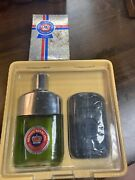 Vintage British Sterling Cologne And After Shave And Bar Soap Lot