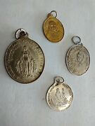 Catholic Vintage Lot French And Spanish Religious Medals