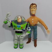 Disney Pixar Toy Story 2 Buzz And Woody Interactive Buddies Talking Action Figures