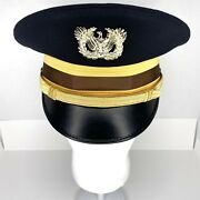 Us Army Officer Military Kingform Cap Hat Deluxe Dress Field Black 7 1/8