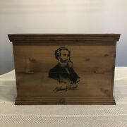 Nathannial Bostock Antique Vintage Wooden Shuttle And Pirn Loom Box Shelf Cabinet