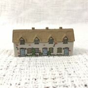 Wade England Miniatures White Beige Triplex Home Whimsey On Why Mini Porcelain
