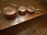 Mauviel 6 Piece Copper And Stainless Steel Cookware Set