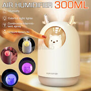Air Humidifier Ultrasonic Cool Mist Steam Aroma Diffuser Purifier With Led Light