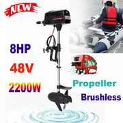48v 8hp Complete Outboard Engines 2.2kw Fishing Boat Canoes Brushless Motor Usa