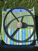 Ford F100 Pickup Truck Steering Wheel And Horn Button Rat Rod 1950's Flat Head 8