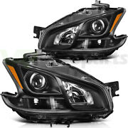 Fits Nissan Maxima 2009-2014 Headlights Headlamps Left + Right Sides Replacement