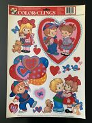 Vintage Color Clings Window Cling Valentine's Day Decorations