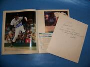 Mark Fidrych Autographed Detroit Tigers 1977 Yearbook  With C.o.a. Photo