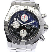 Breitling Avenger Ii A13381 Chronograph Black Dial Automatic Menand039s Watch_634561