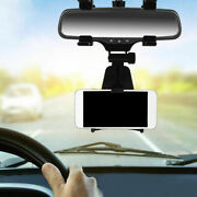 Car Auto Rearview Mirror Mount Holder Stand Cradle For Mobile Cell Phone Gps