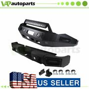 For Dodge Ram 1500 13-18 Pickup Front Rear Bumper Powder Coated Steel Well-made