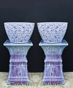 Pair Chinese Ming Porcelain Planters - Ming Pots