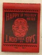 Sohio Gas Station Diner Geo. And Max Ambiguous Drawing Williamstown Oh Matchbook