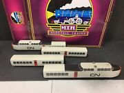 Mth Premier 20-20036-1 20-60015 Canadian National Turbotrain And Ad-on Mib M.834