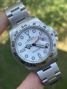 2019 Rolex Explorer Ii 216570 Polar / White Gmt 42mm W/ Boxes / Papers Complete