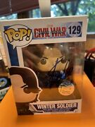 Stan Lee Autographed Funko Pop Marvel 129 Civil War Winter Soldier Awesome 👏