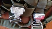 Vintage French Aerazur Efa Ejection Seat Harness For Parachute Type 21 Buckles